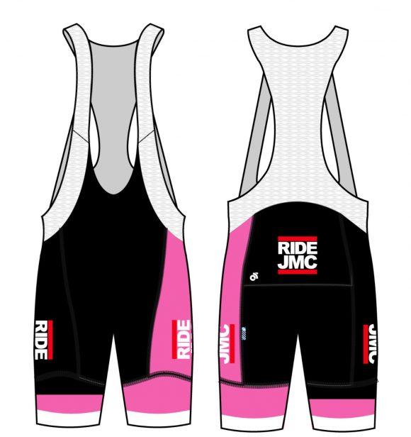 pink bib shorts