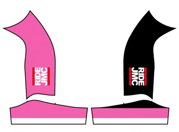 pink bib shorts sides